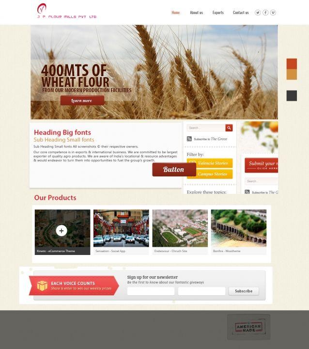 Flour Mills Website Design Idea Web Design Website Design Interface Design