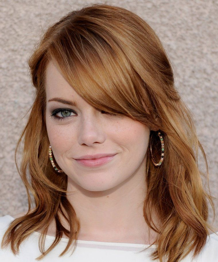 coiffure emma stone o1 hair pinterest haarfarbe blond haarfarben und caramel haarfarbe. Black Bedroom Furniture Sets. Home Design Ideas