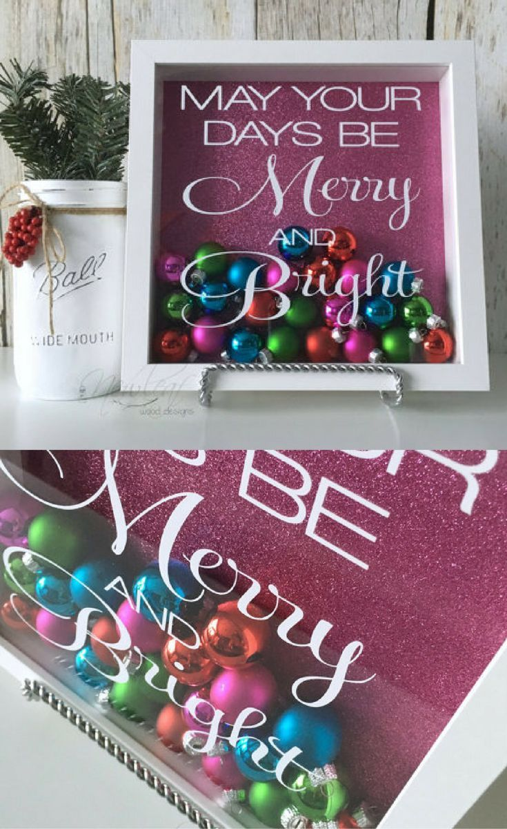 10x10 Girls Bedroom: Christmas Shadow Box, May Your Days Be Merry And Bright
