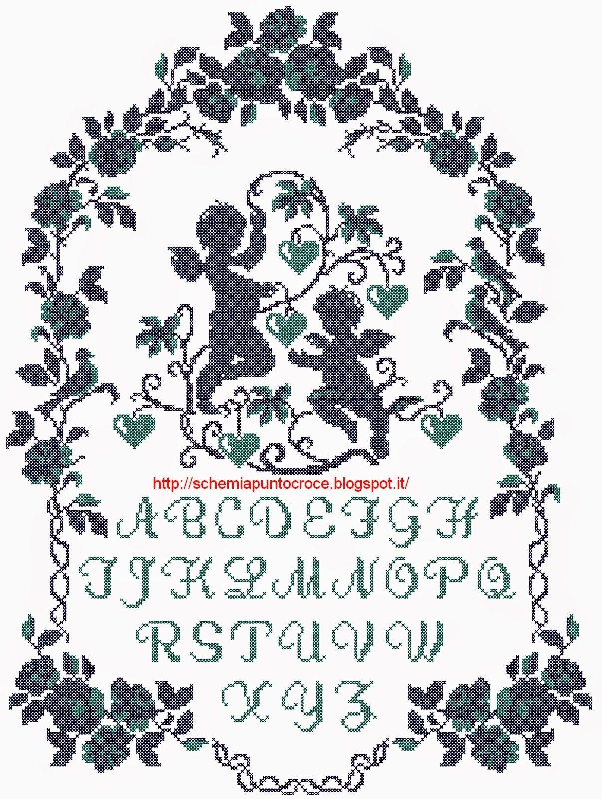 Schemi a punto croce gratuiti per tutti schemi a punto for Alfabeti a punto croce per bambini