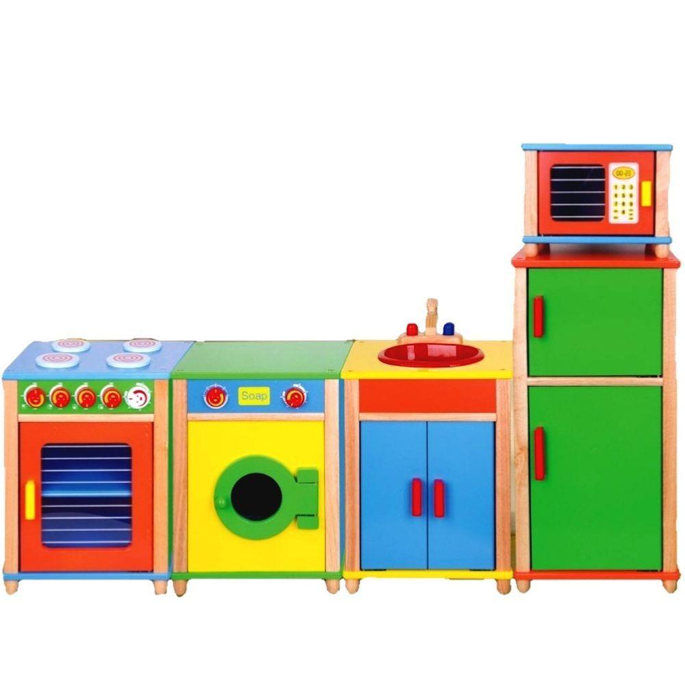 Details zu Kinderküche Holz Set Spielküche Holzküche Küche ...