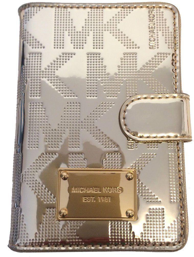 e8d7e0b94ed Michael Kors Jet Set Item Passport Holder Case Pale Gold PVC: Handbags:  Amazon.com