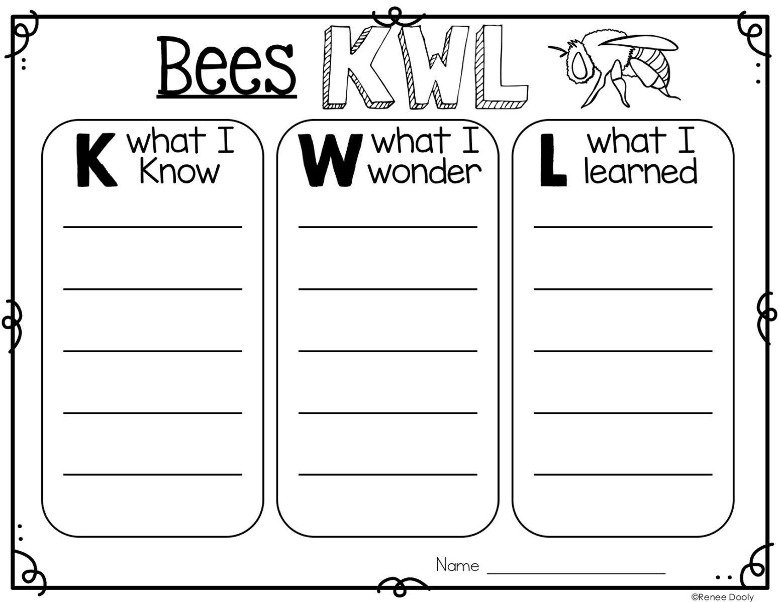 Dr Seuss Kwl Chart First Grade Chart