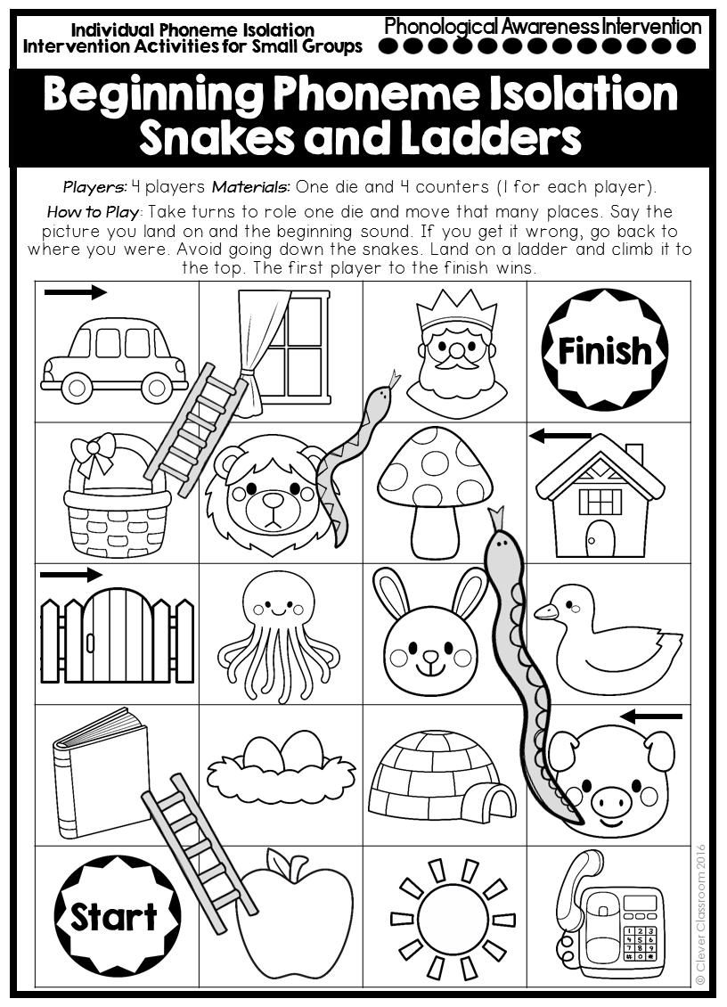 Phonemic Awareness Games And Activities For Kindergarten And First Graders And Seco Phonemic Awareness Phonemic Awareness Kindergarten Phonemic Awareness Games [ 1130 x 816 Pixel ]