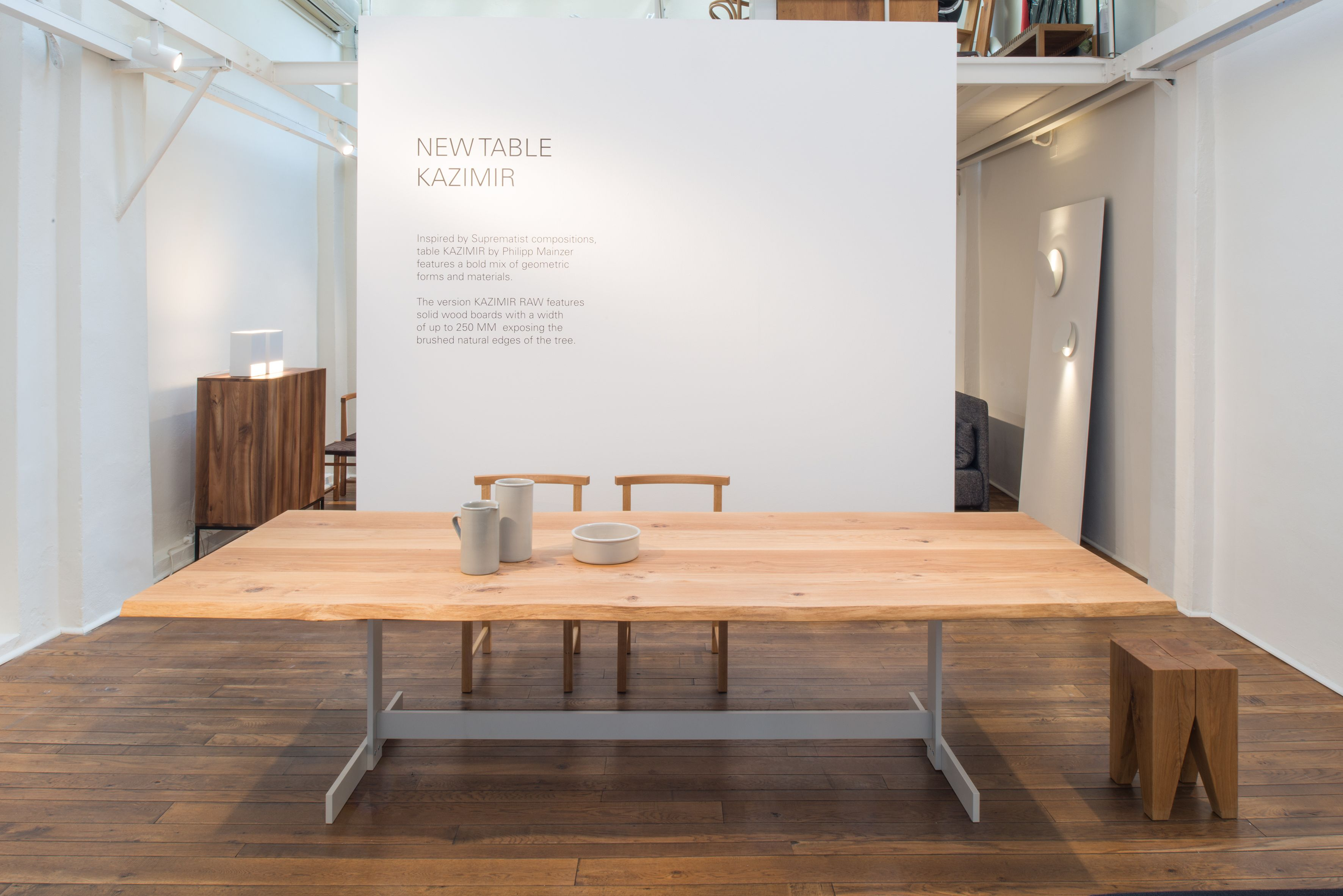 Table Kazimir By Philipp Mainzer At The E15 Showroom In Via