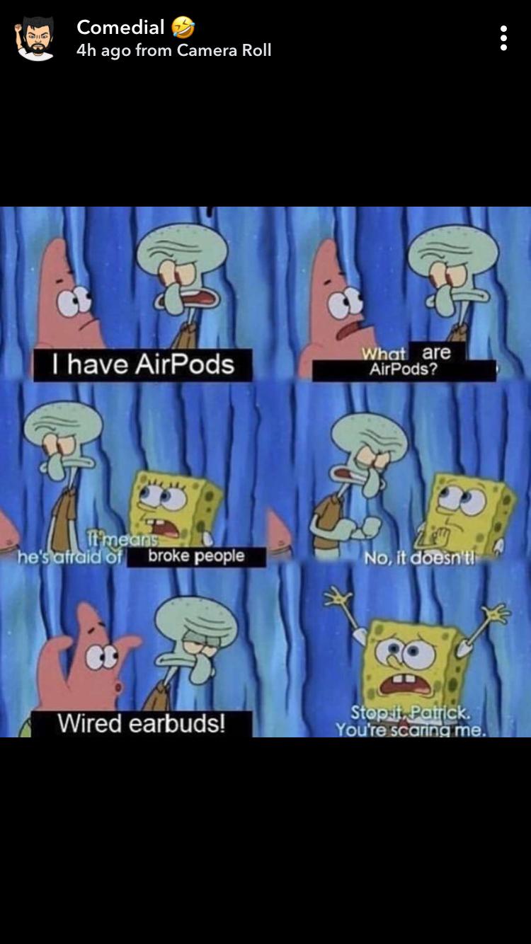 Spongebob Airpod Meme : spongebob, airpod, Casey, Tyler, Memes, Funny, Spongebob, Memes,