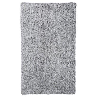 Threshold™ Heathered Reversible Bath Rug Gray (20x34
