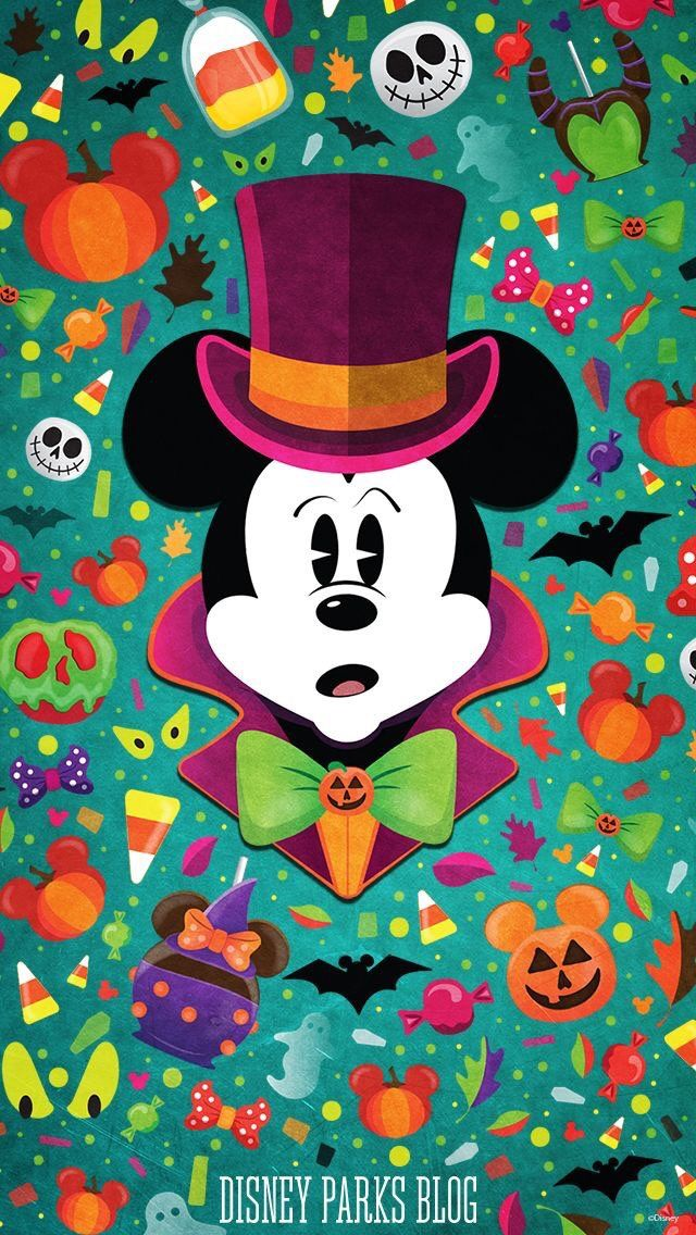iPhone and Android Wallpapers Halloween Mickey Mouse