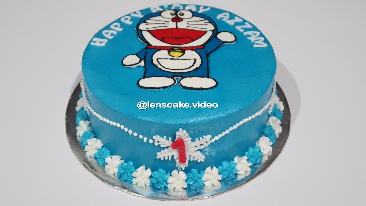 Pin cara menghias kue cake decorating cake on pinterest - How To Make Birthday Cake Doraemon Easy Cara Membuat Kue Ulang Tahun Doraemon Yang Mudah