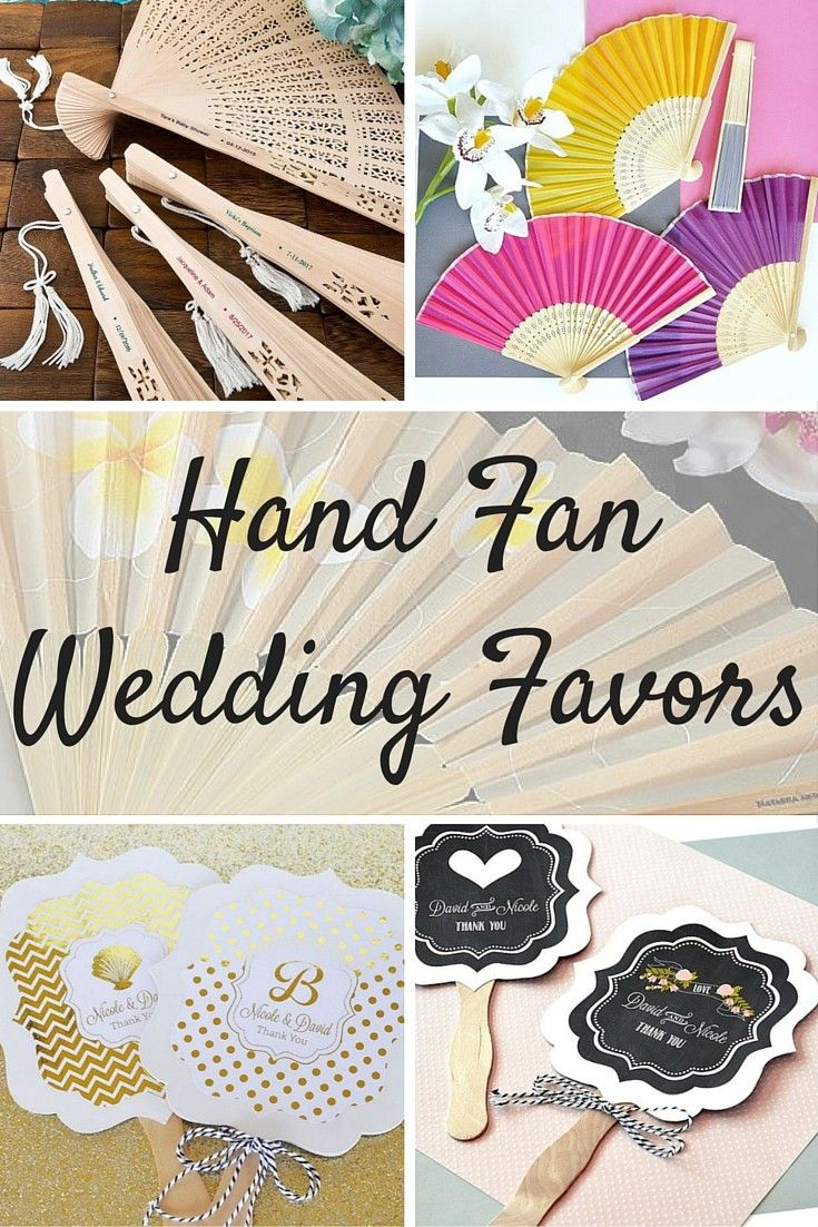 Hand fan favors are a must to keep guests cool during your outdoor ...