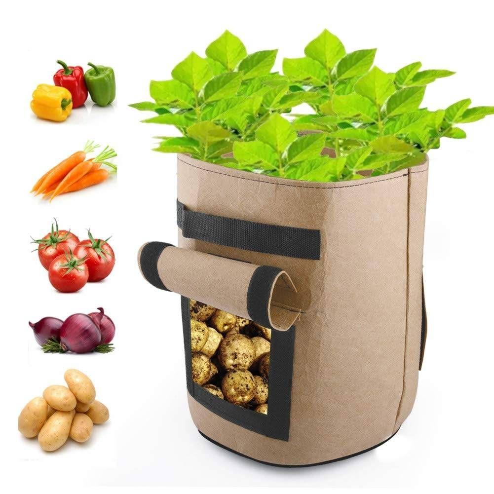 NEW POTATO TOMATO BAG PLANTER GROW YOUR OWN SACK SPUDS TUB PATIO POTATOES GARDEN