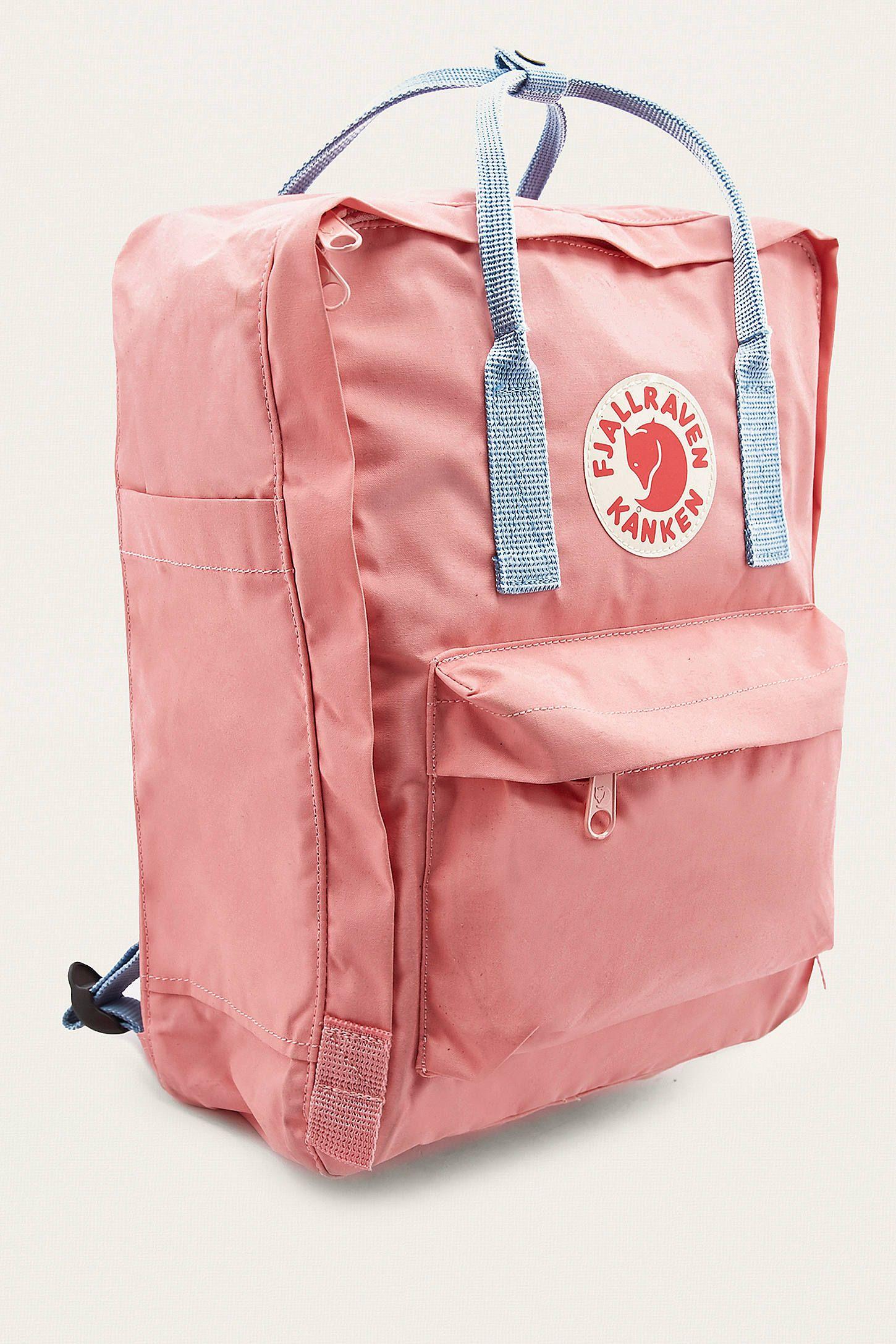 f90b0ccd30f Slide View  3  Fjallraven Kanken Pink And Air Blue Backpack