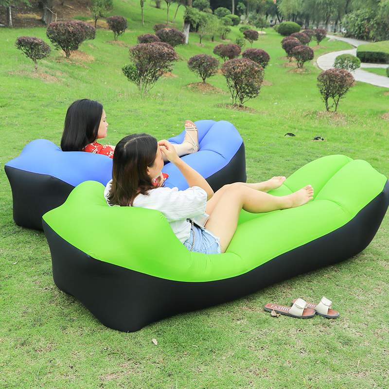 Outdoor Camping Sofa Bed Inflatable Sofa Lazy Bag Air Sofa Bed Sleeping Bags Moistureproof Pad Inflatable Air Lounger Chair Beach Lounge Chair Inflatable Sofa Lazy Bag
