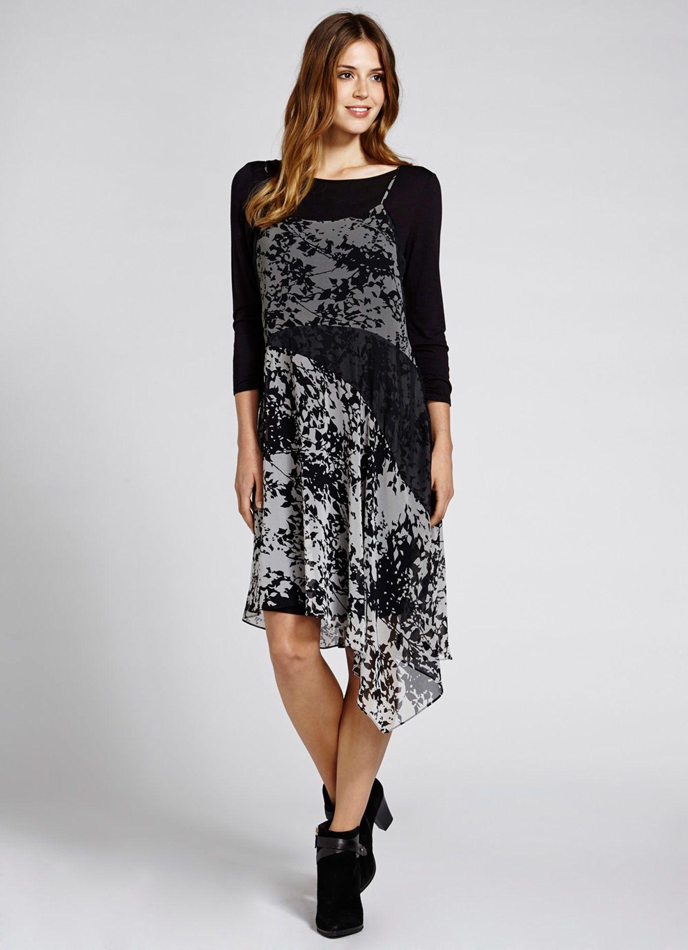 Nikki Print Layered Dress | Dresses & Jumpsuits | MintVelvet