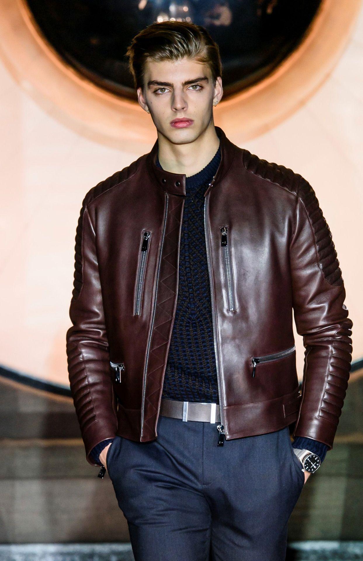 Porsche Design F/W 16 Menswear (Berlin) Leather jacket