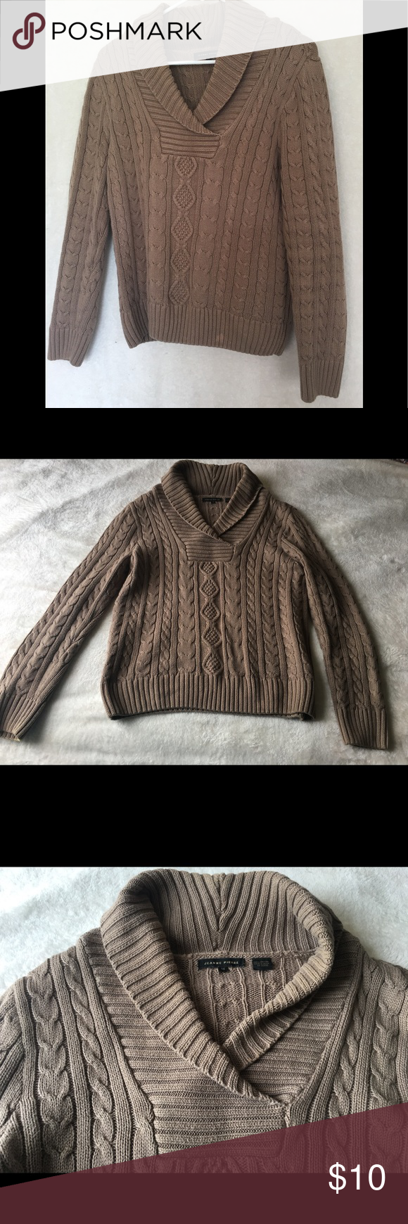 Jeanne Pierre brown sweater | Brown and Customer support