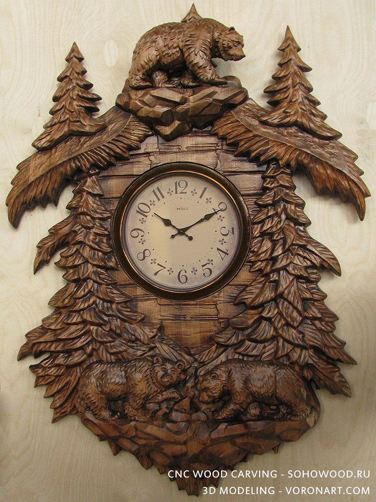 Walking bears 3d model for wall clock cnc carving to buy 3d 3d model for wall clock cnc carving to buy 3d model amipublicfo Image collections