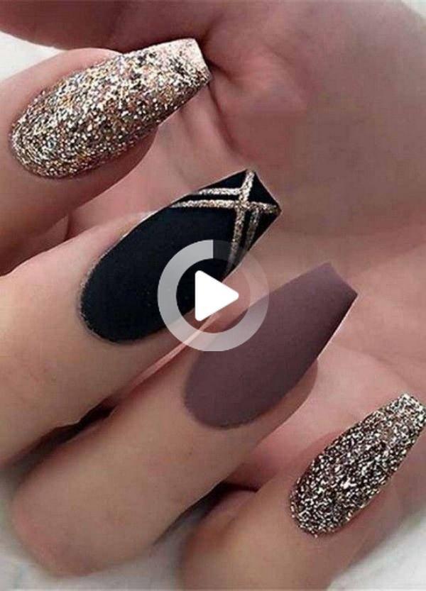 45 prachtige herfst acryl nagel ontwerpen en ideeën 2019