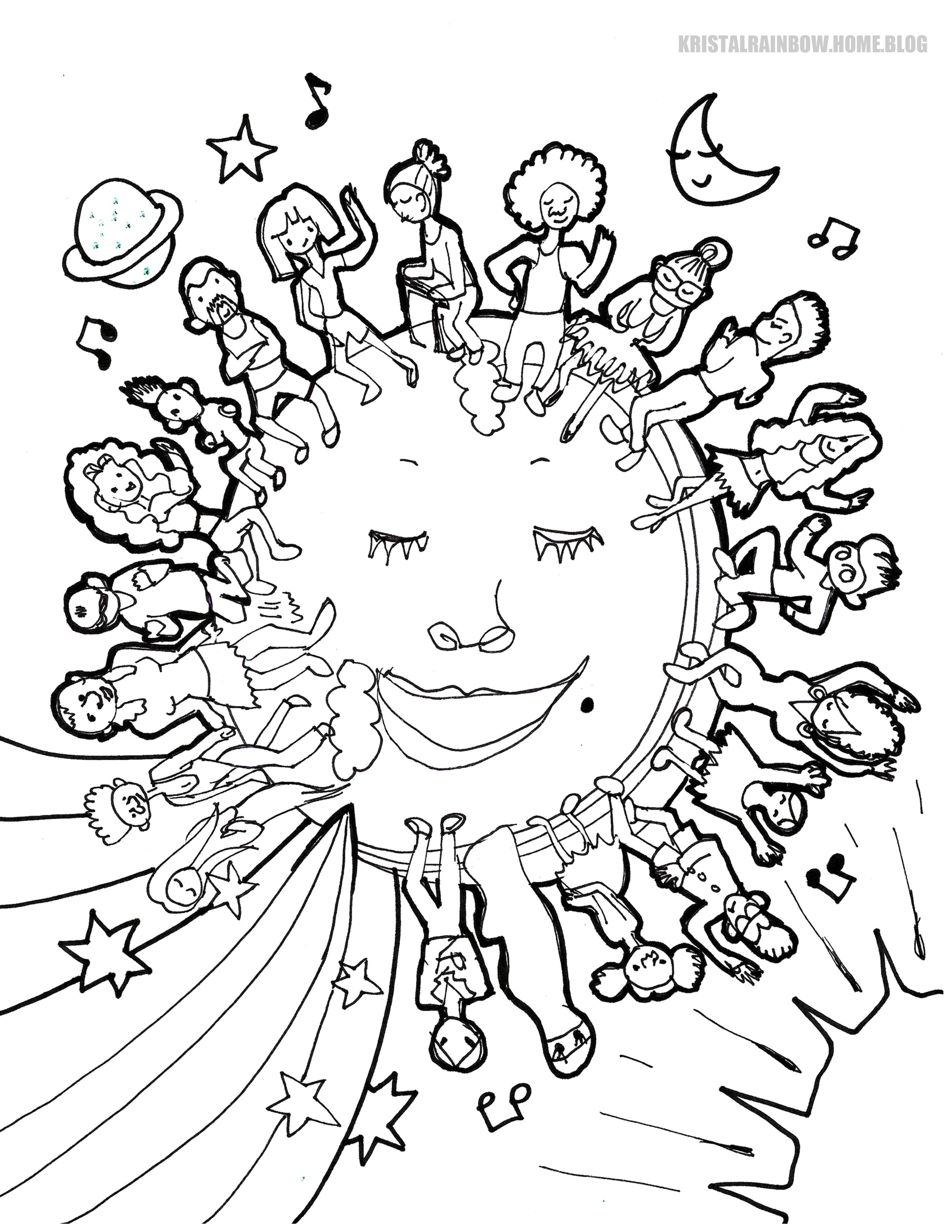 Free Coloring Page For Kids The Earth Is Color Blind In 2020 Coloring Pages Coloring Pages For Kids Fall Coloring Pages