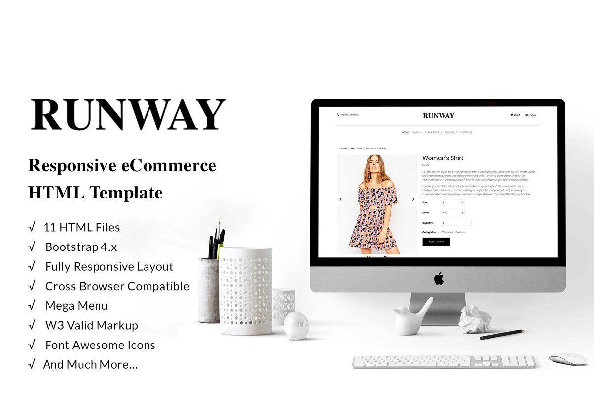 Runway Ecommerce Bootstrap 4 Templ Ecommerce Template Html5 Templates Web Design