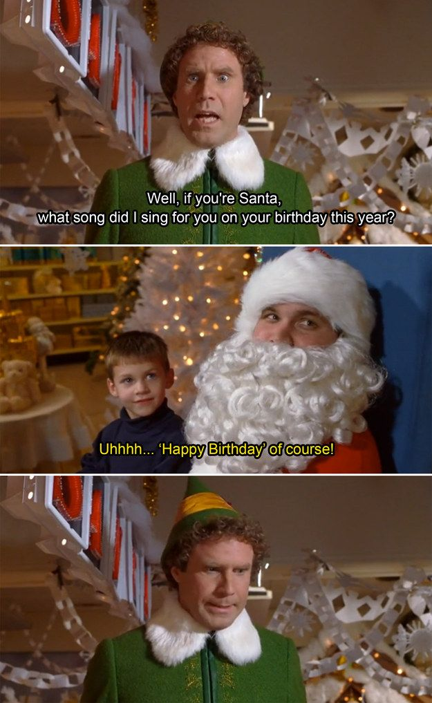 Happy Birthday Christmas Quotes Funny Elf Quotes Movie Quotes Funny