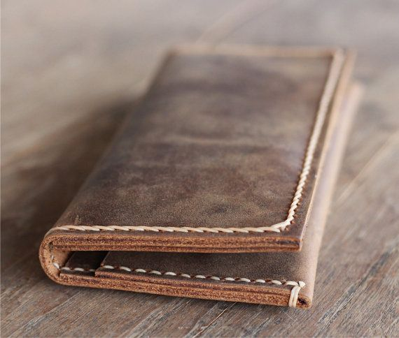5e440130d65c28 Leather Billfold Wallet Mens Womens Wallets No More by JooJoobs, $39.00
