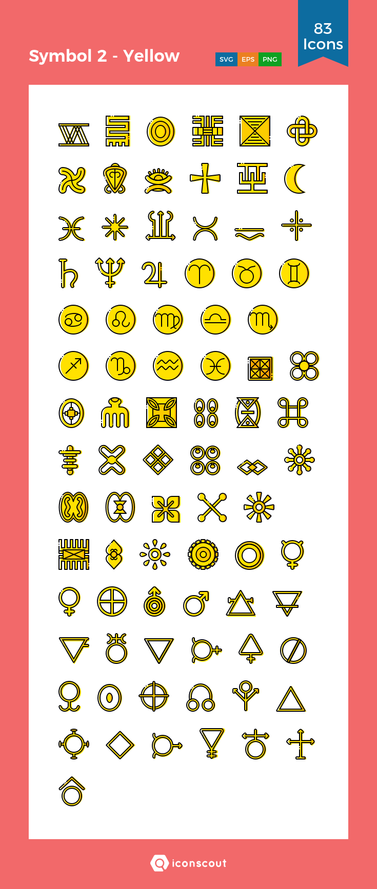 Symbol 2 Yellow Icon Pack 83 Filled Outline Icons Symbols Icon Pack Icon