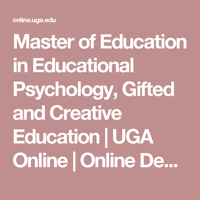 Master Of Education In Educational Psychology Gifted And Creative