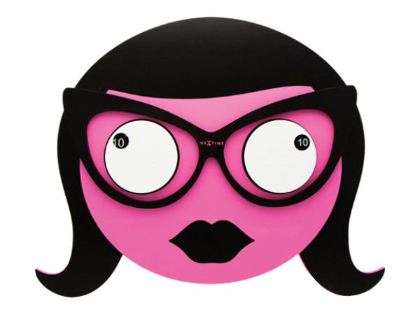 Ausgefallene Wanduhr wanduhr ms spectacles nextime pink ausgefallene wanduhren