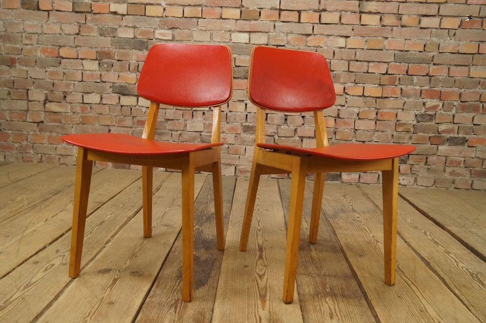 Sedie Antiquariato ~ 2x sala pranzo sedie mid century design set coppia cucina vinile