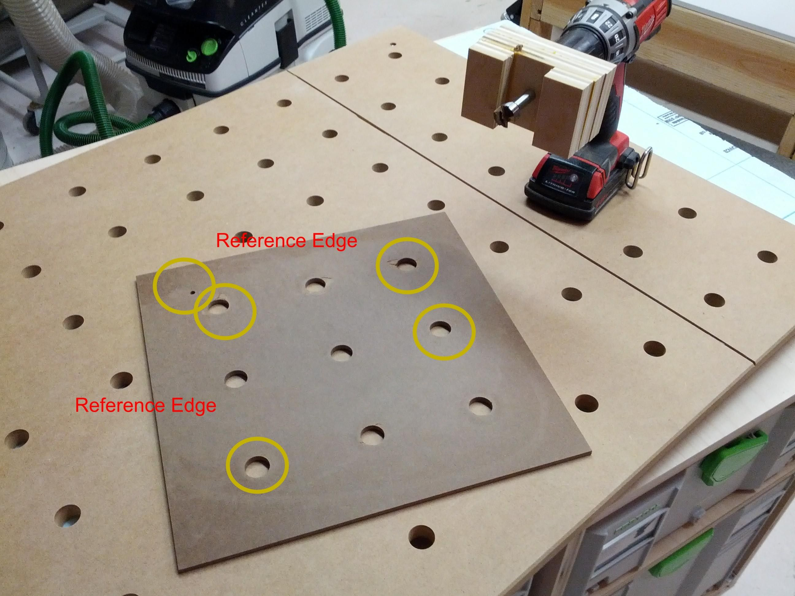 Idea For Mft Hole Drilling Template With Images Woodworking