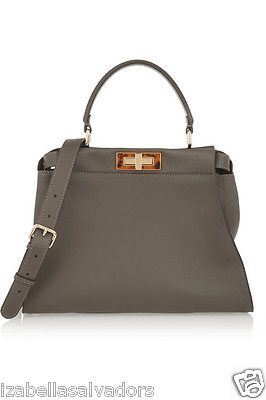 Buy Prada Glance Twins Leather Tote Shoulder Bag - Pumice Gray Authentic  New at online store 1ca3e33b1bad4