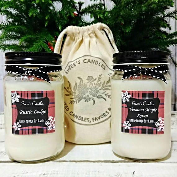 Curl up with this Winter Soy Candle on a cold winters Night, Rustic Lodges blends of fruity green apples, sweet honey, cinnamon bark, nuts, creamy caramel, maple sugar, cider spice and warm French vanilla. You get both sweet and the rustic blends in one candle or you can choose a