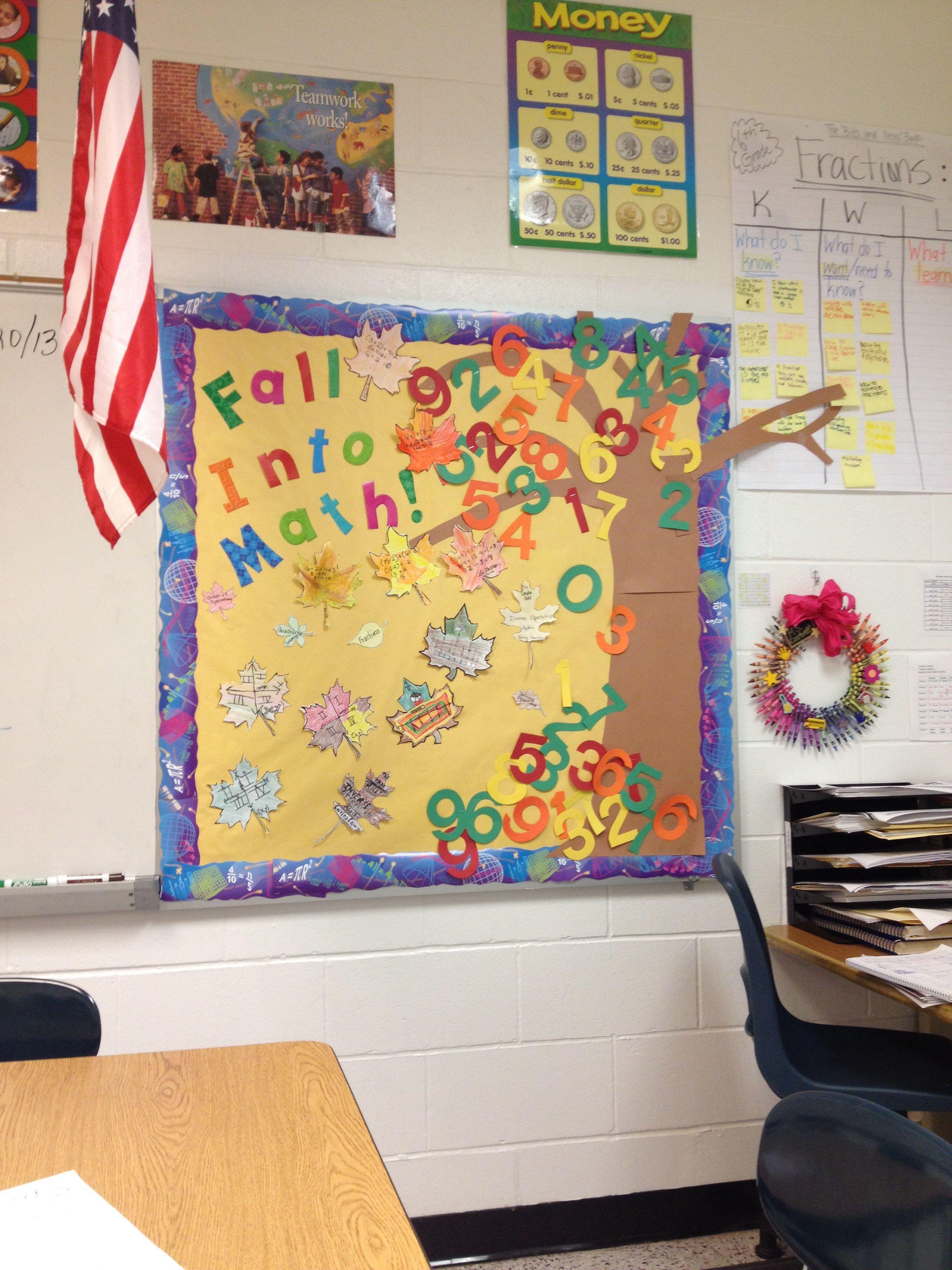Fall Math Bulletin Board! | things I\'ve made :) | Pinterest | Math ...