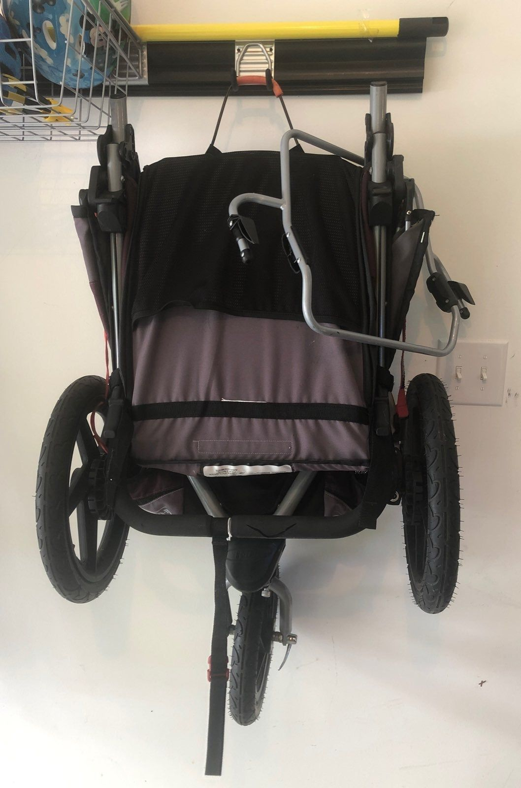 Good condition. Jogging stroller never used for jogging