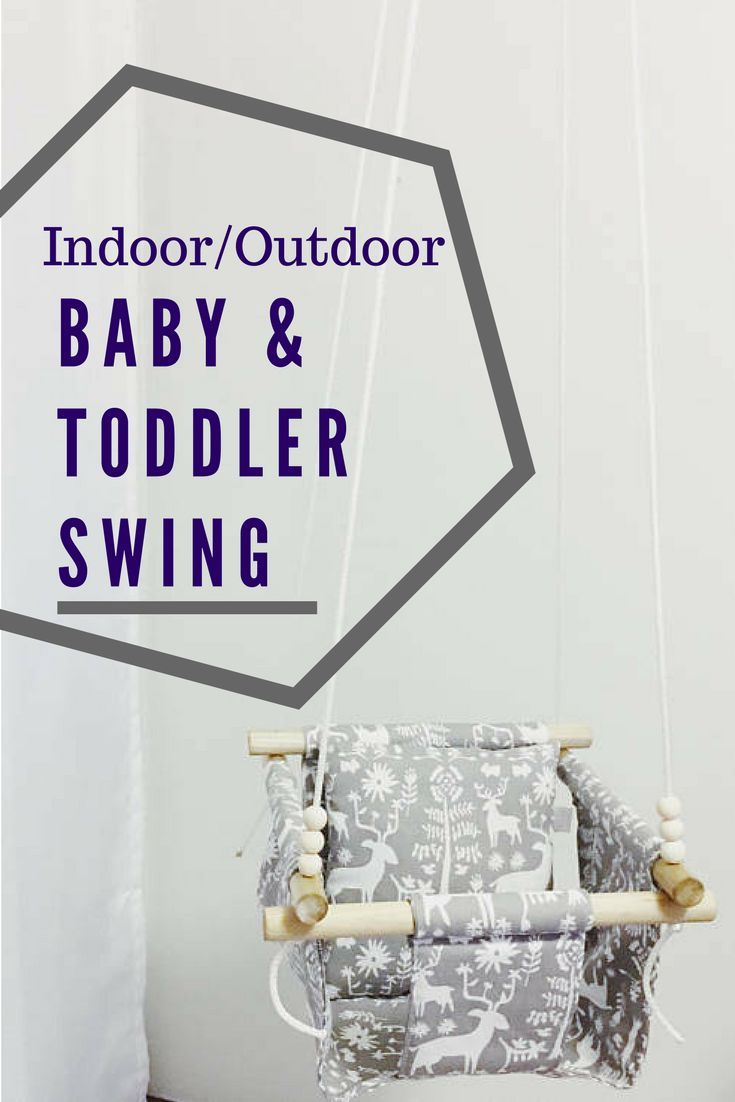 I love this fun idea to let baby be able to swing even when its cold