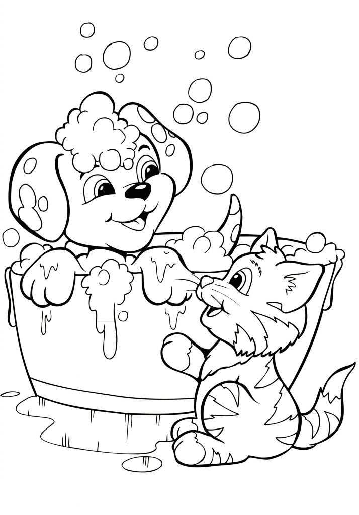 Cute Puppy Coloring Pages To Print 101 Coloring In 2020 Puppy Coloring Pages Kittens Coloring Animal Coloring Pages