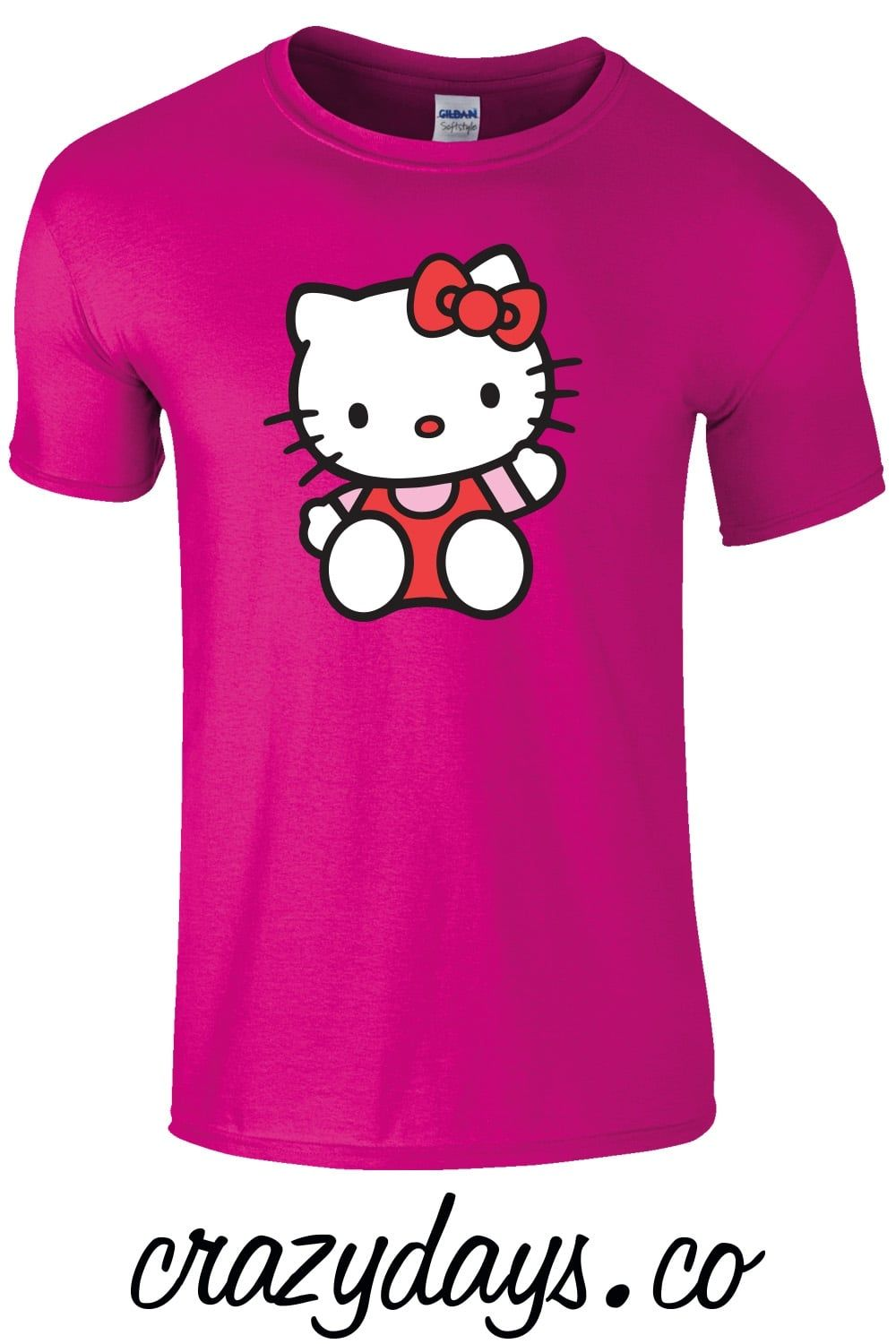 Hello kitty kids t shirt is available in sizes sml to xl for Hello kitty t shirt design
