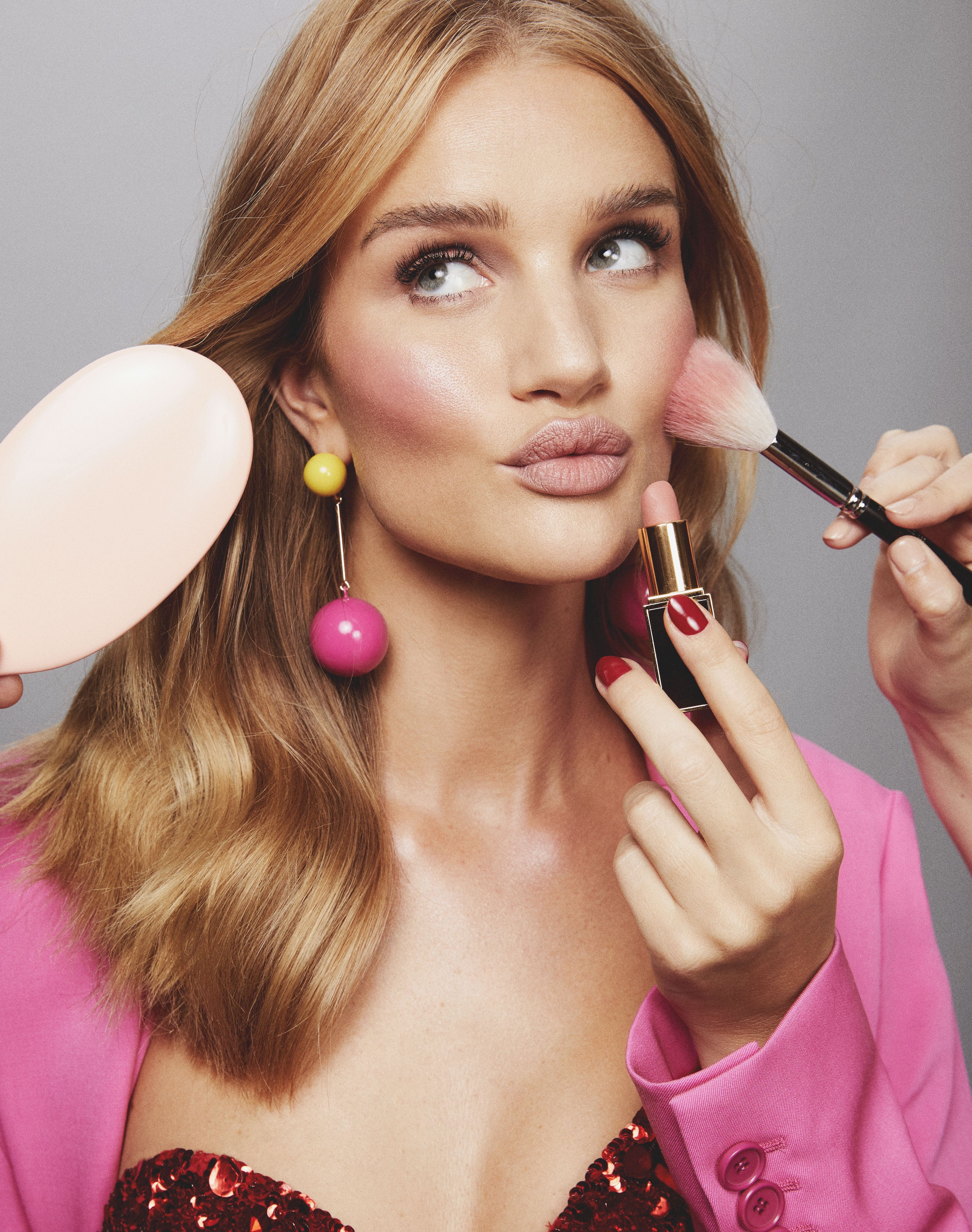 Rosie HuntingtonWhiteley blush makeup tutorial Rose Inc