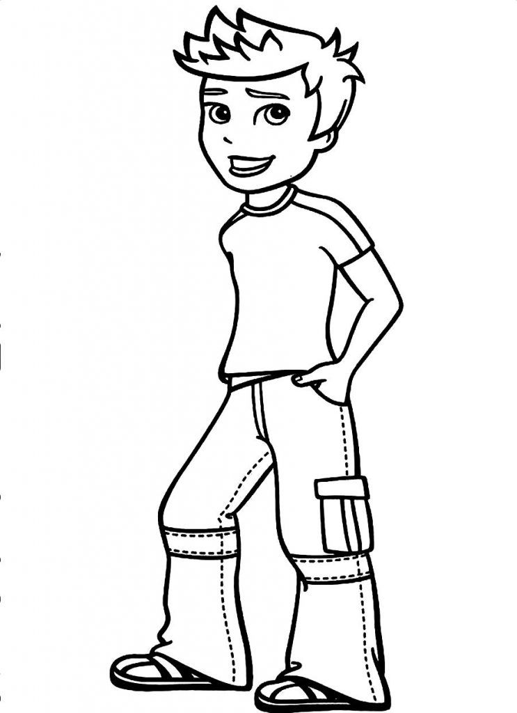 Printable Coloring Book For Kids Boy