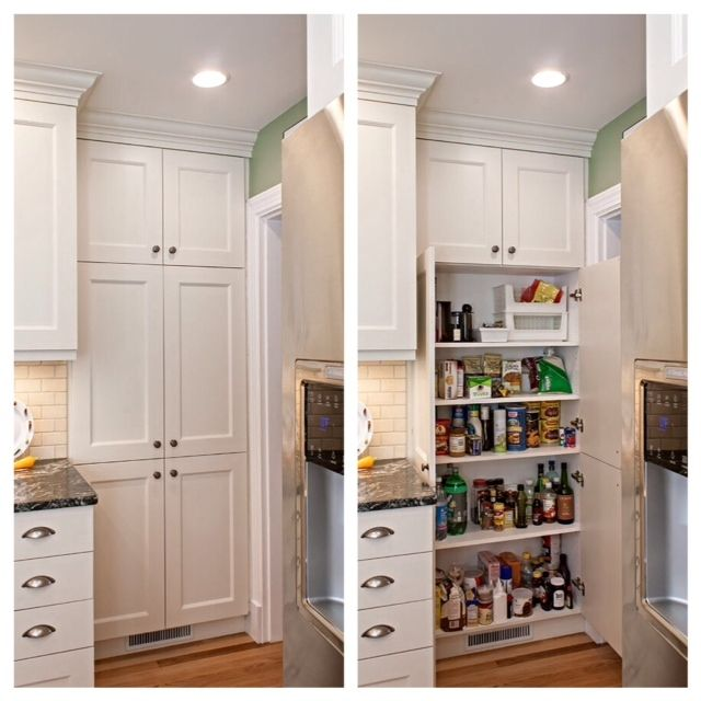 White Shallow Tall Cabinet Pantry Look At All That Storage Kitchen Cabinet Storage White Kitchen Storage Cabinet Shallow Pantry