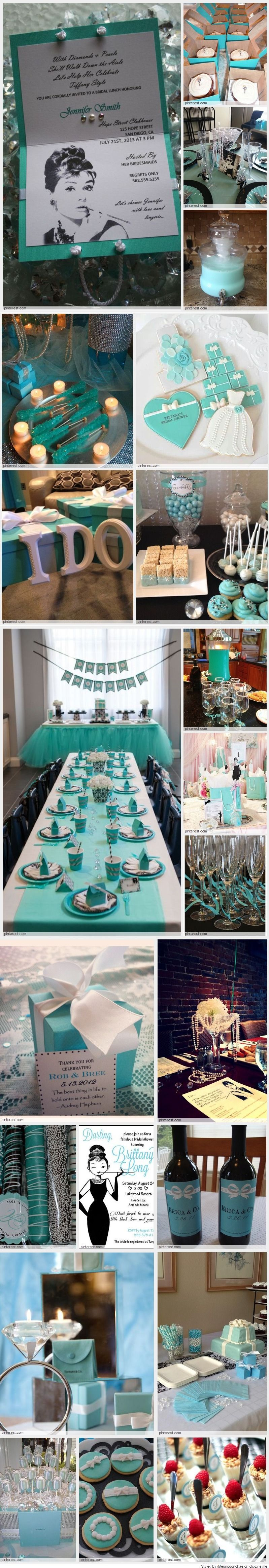 Breakfast at Tiffany's Bridal Shower! Would be the best thing ever