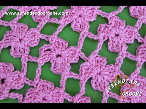 Crochet : Flor de 4 Petalos. Parte 1 de 2 - YouTube | manzanillon ...