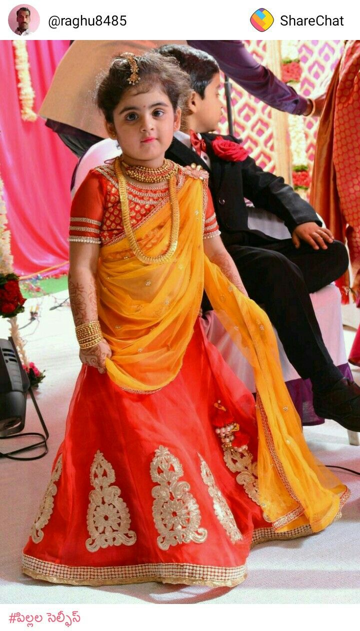 Indian little girl in traditional dress.... Kids In