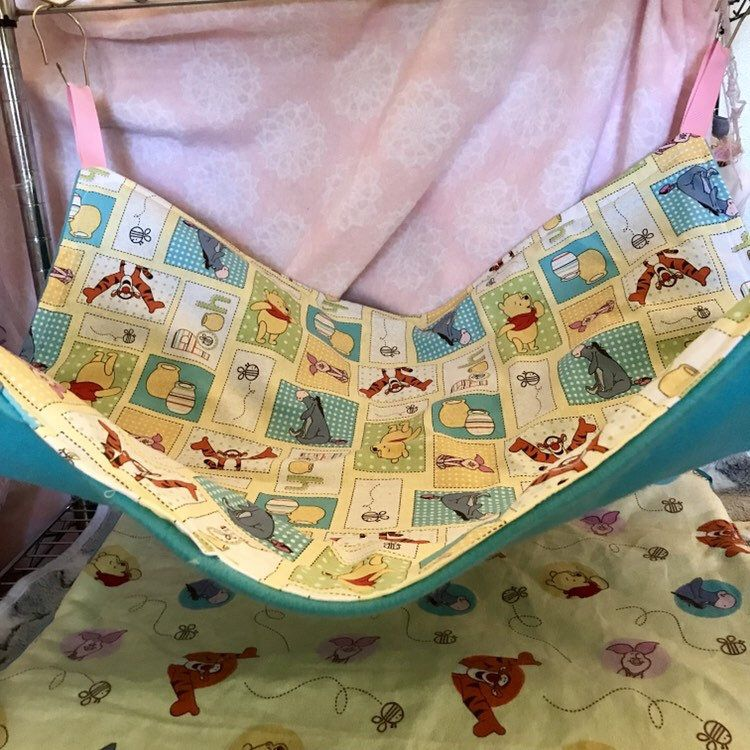 Extra large ferret hammock ferret cage liner pooh bear