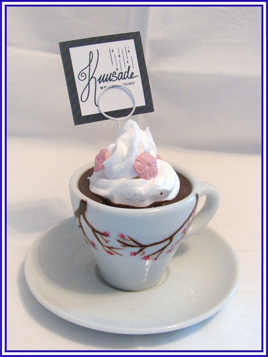 Hot chocolate cup. Handpainted and handmade