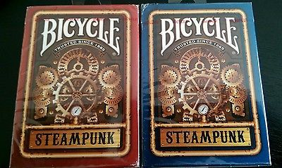 Rare limited edition bicycle steam punk redblue playing cards poker rare limited edition bicycle steam punk redblue playing cards poker size uspcc colourmoves Choice Image