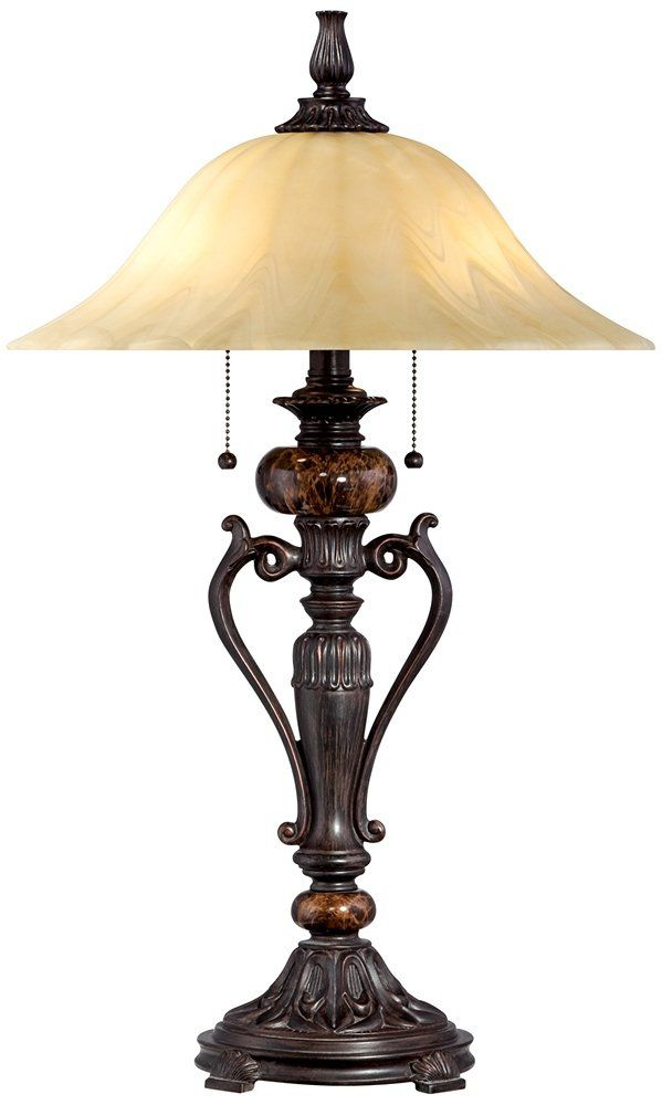 A Richly Decorative Accent Table Lamp From The Kathy Ireland Home  Collection Of Table Lamps. Overall: High. Base Is 7 Wide. Shade Is 15 Wide  X 5 High.