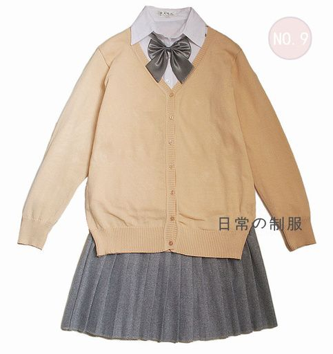 Included:+Knitting+Cardigan,+Cotton+shirt,+Woolen+skirt,+bow+tie  Size+S:+Shoulder+35+cm,+Bust+82+cm,+Shirt+length+55+cm,+Sleeves+55+cm,+Skirt+Waist+60--90+cm,+Skirt+length+43+cm Size+M:+Shoulder+36+cm,+Bust+84+cm,+Shirt+length+56+cm,+Sleeves+56cm,+Skirt+Waist+60--90+cm,+Skirt+length+43+cm Si...