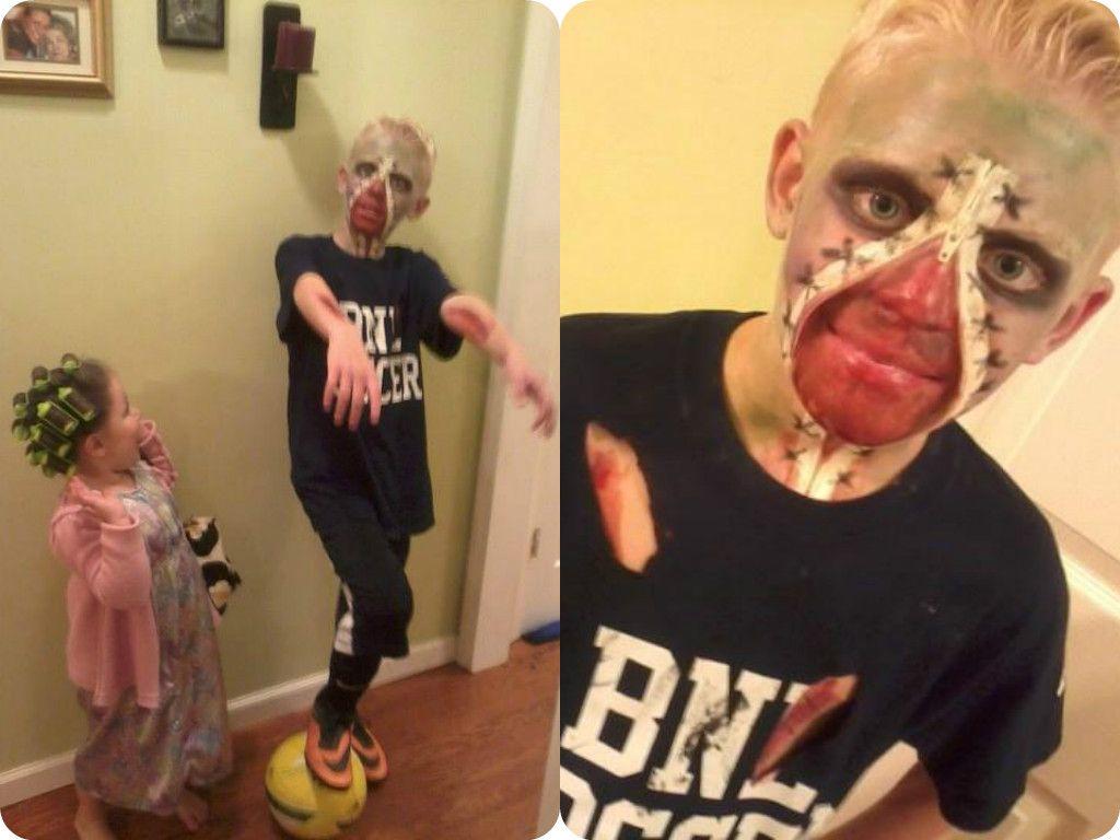 My Kids 2013 Zombie Soccer Player Zipper Face And Grandma
